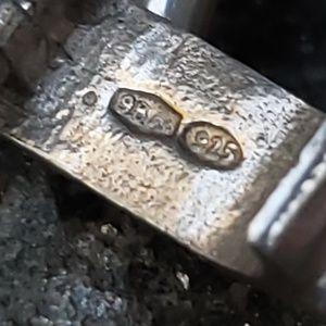 Vintage Italian Gucci style enamel link bracelet